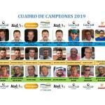200718 VDE, Cuadro de campeones de torneos del Circuito LCG 2019