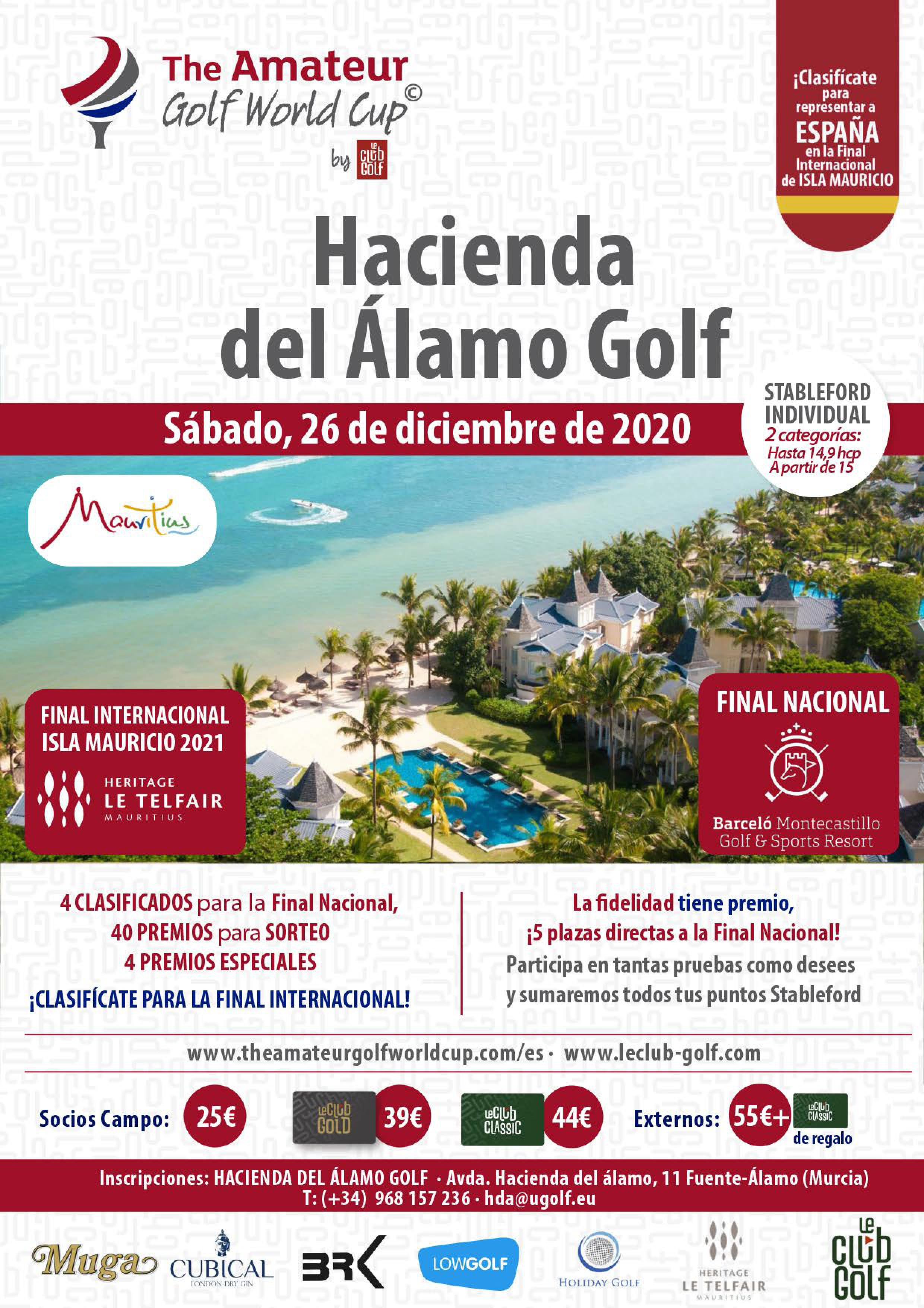 201226 HDA, Cartel del torneo