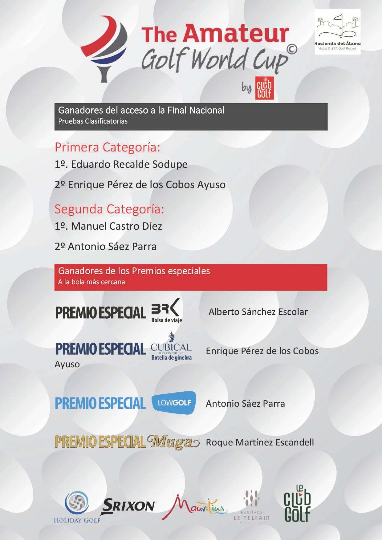 201226 HDA, Listado de ganadores