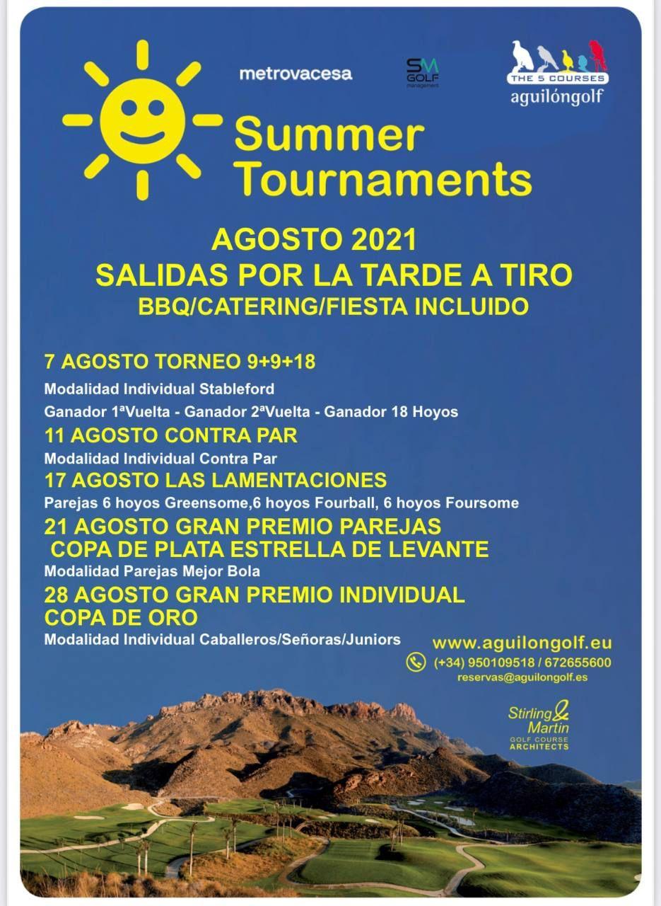 210807 AGU, Cartel del torneo