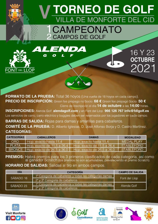 211016 FON, Cartel del torneo