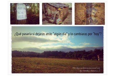 Paisaje del Camino de Santiago. Lograr tus objetivos puede ser un camino maravilloso.