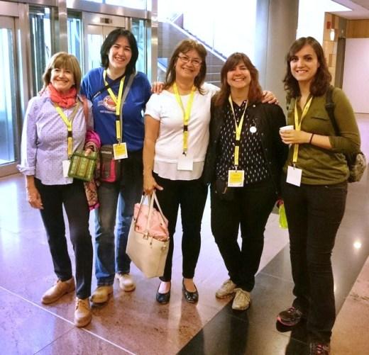 Concha, Helena, Mónica y Bea
