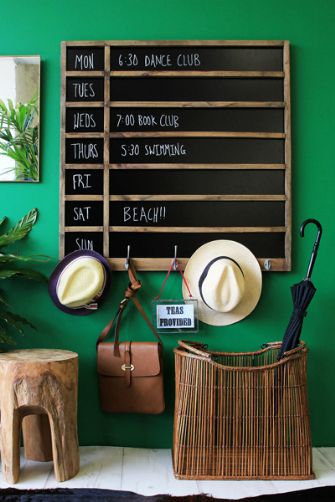 Chalboard Life Planner with Hooks by Rockett St George