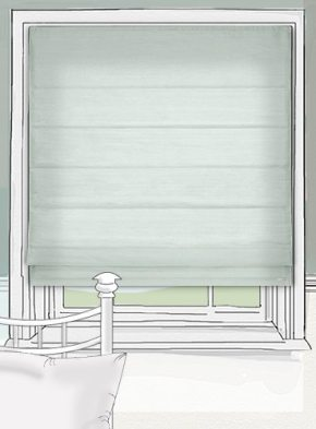 Pure Silk Duck Egg roman blind