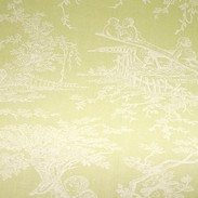 Toile Green :: At first glance this roller blind is a fresh apple green. Look a little closer however and you will notice a classic Toile de Jouy pattern picked out in very soft white. The pattern is a traditional pastoral scene that evokes feelings of calm and relaxation.  The Spring colouring of Toile Green will look beautiful in any bright and fresh room, particularly one that needs a hint of pattern for that all important finishing touch. We're thinking soft cream furnishings, vases of lilies and church candles, no doubt you'll have your own thoughts though!
