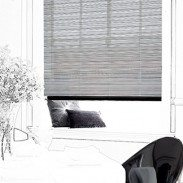 Astria Metro is urban chic in a roller blind. The cool colour way and strong pattern together create a unique style statement. The black of the blind is kept soft with translucent bands, while twists of gold thread and camel give a richness to the fabric.  This blind is a must in contemporary areas of your home that err on the masculine. It would look fabulous in a bang on trend kitchen or up to the minute study area.