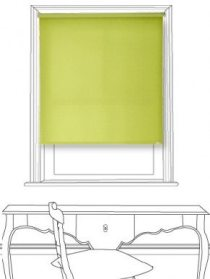 Habitat Electric Lime Roller Blind