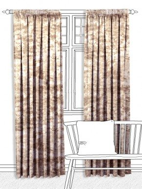 Zola Stucco Gold Curtains