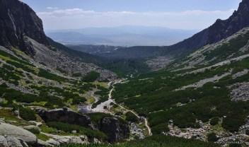 widok z nad wodospadu Skok