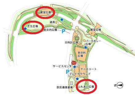 隅田川花火大会が一望できる汐入公園図1