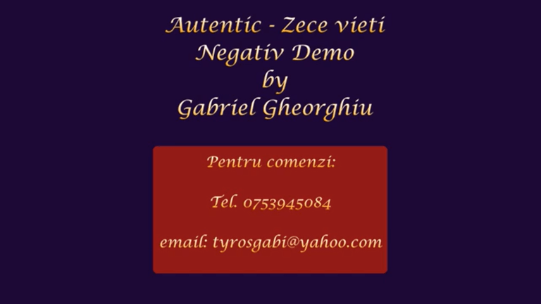 Zece vieti – Autentic – Negativ Karaoke Demo by Gabriel Gheorghiu