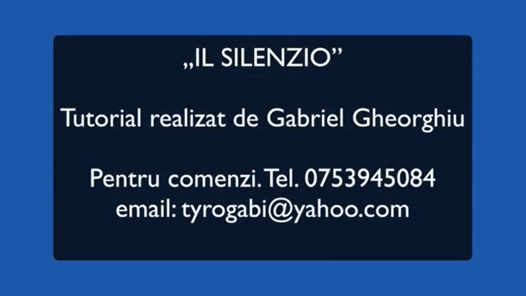 Il Silenzio, Tutorial acorduri, Armonie, Tabulaturi by Gabriel Gheorghiu