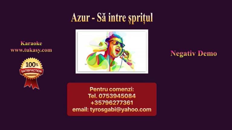 Sa intre spritul – Azur – Negativ Karaoke Demo by Gabriel Gheorghiu