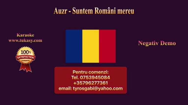 Suntem romani mereu – Azur – Negativ Karaoke Demo by Gabriel Gheorghiu