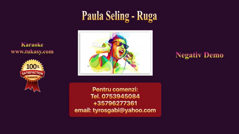 Ruga – Paula Seling – Negativ Karaoke Demo by Gabriel Gheorghiu