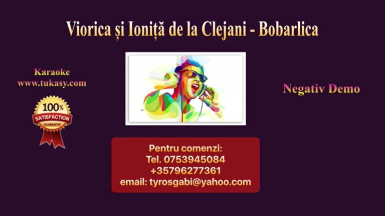 Bobarlica Fa minor – Viorica si Ionita de la Clejani – Negativ Karaoke Demo by Gabriel Gheorghiu