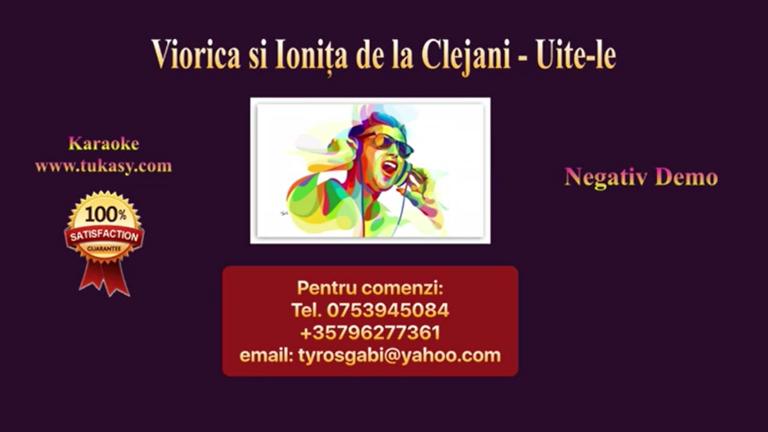 Uite-le – Viorica si Ionita de la Clejani – Negativ Karaoke Demo by Gabriel Gheorghiu