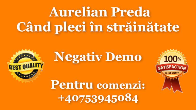 Cand pleci in strainatate – Aurelian Preda