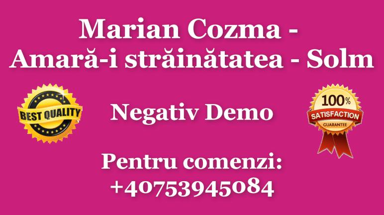 Amara-i strainatatea – Sol minor – Marian Cozma – Negativ Karaoke Demo by Gabriel Gheorghiu
