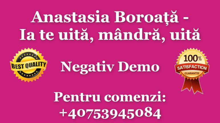Ia te uita, mandra, uita – Anastasia Boroata  Negativ Karaoke Instrumental by Gabriel Gheorghiu