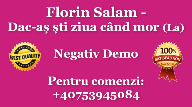 Dac-as sti ziua cand mor – La – Florin Salam – Negativ Karaoke Demo by Gabriel Gheorghiu