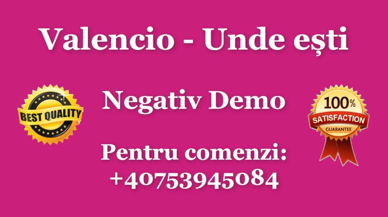 Unde esti – Valencio – Negativ Karaoke Instrumental by Gabriel Gheorghiu