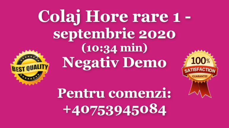 Colaj Hore rare – septembrie 2020 – Negativ Karaoke Demo by Gabriel Gheorghiu