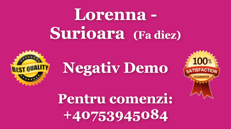 Surioara – Fa diez – Lorenna – Negativ Karaoke Demo by Gabriel Gheorghiu