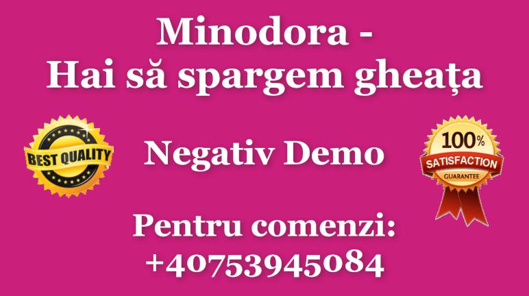 Hai sa spargem gheata – Minodora – Negativ Karaoke Demo by Gabriel Gheorghiu