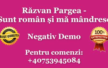 Razvan Pargea Sunt roman si ma mandresc
