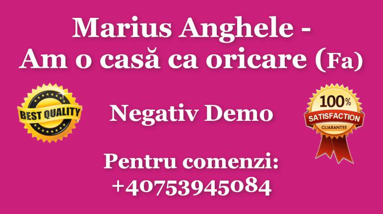 Am o casa ca oricare – Fa – Marius Anghele – Negativ Karaoke Demo