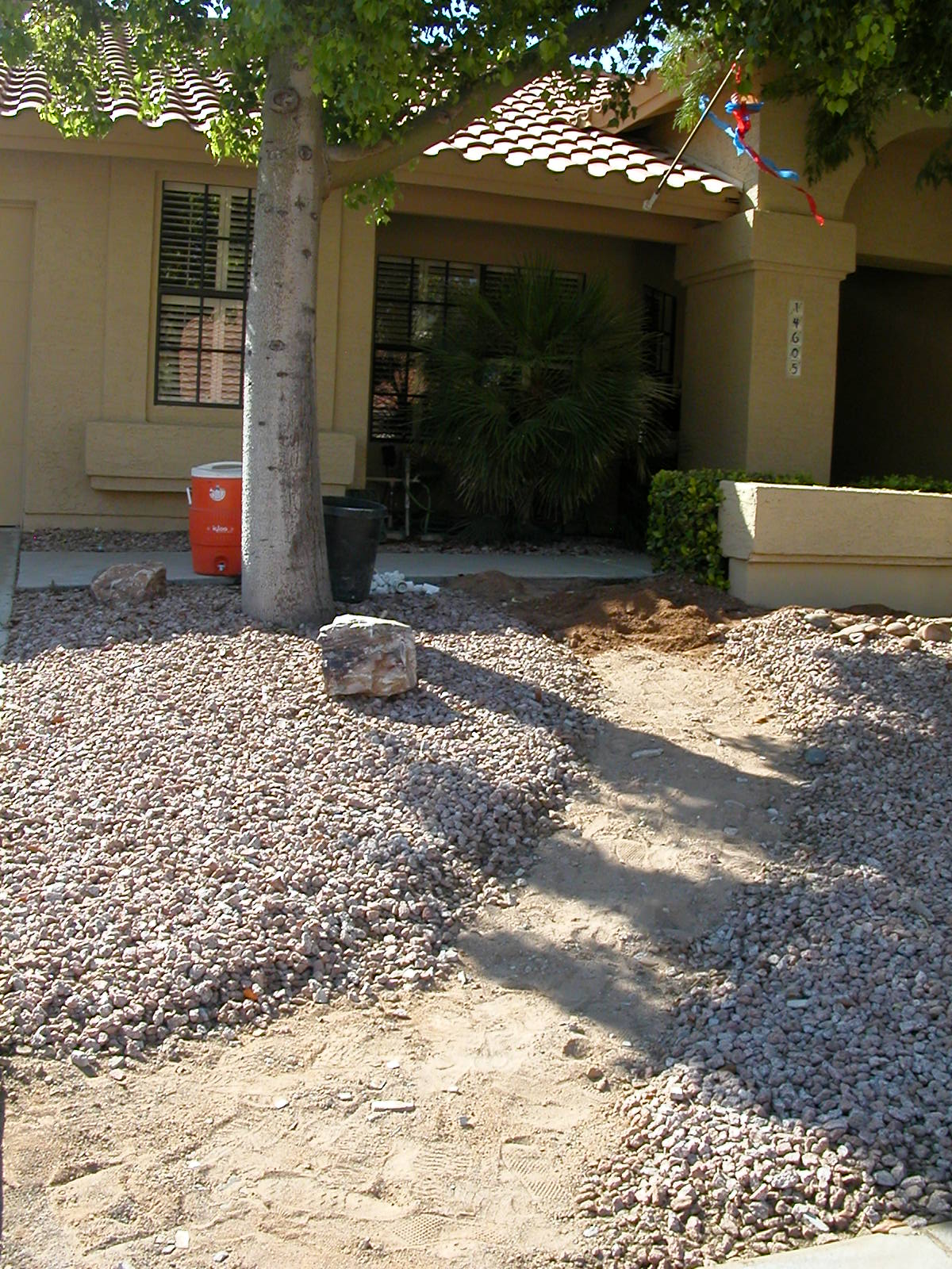 Front walkway, removed