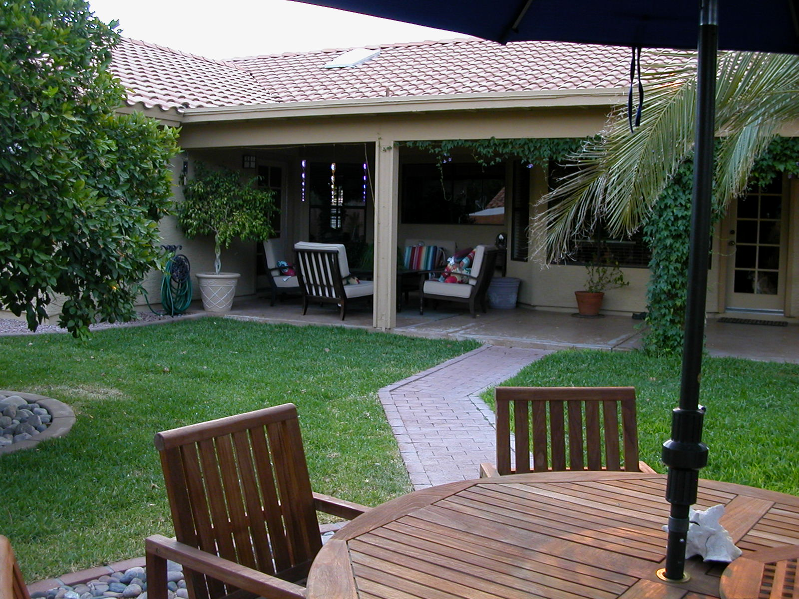 Yard to patio view