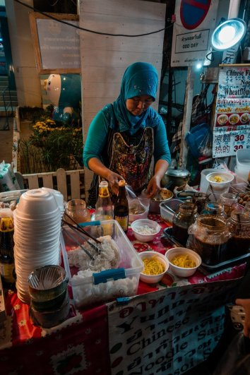Chinesische Nudeln von Muslima in Thailand