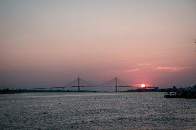 Mekong Sonnenuntergänge