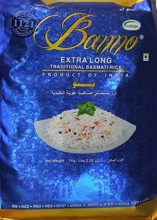 Banno blue Basmati Rice1kg. Tukwila Online Store in Germany