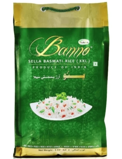 Banno Green Sella Basmati Rice Rice 5kg-Tukwila Online grocery in Germany