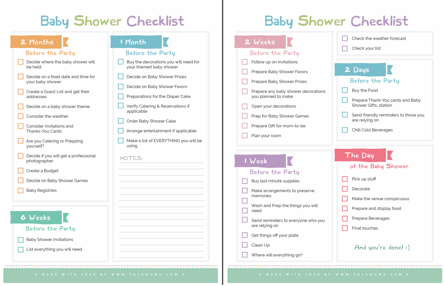 The Only Baby Shower Checklist You Will Need