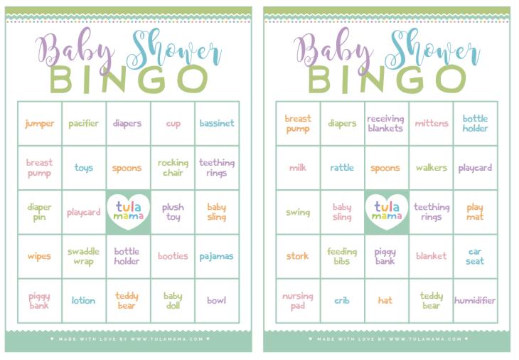free download baby shower bingo