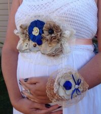 Beautiful Baby Shower Corsage & Maternity Sash Ideas ...
