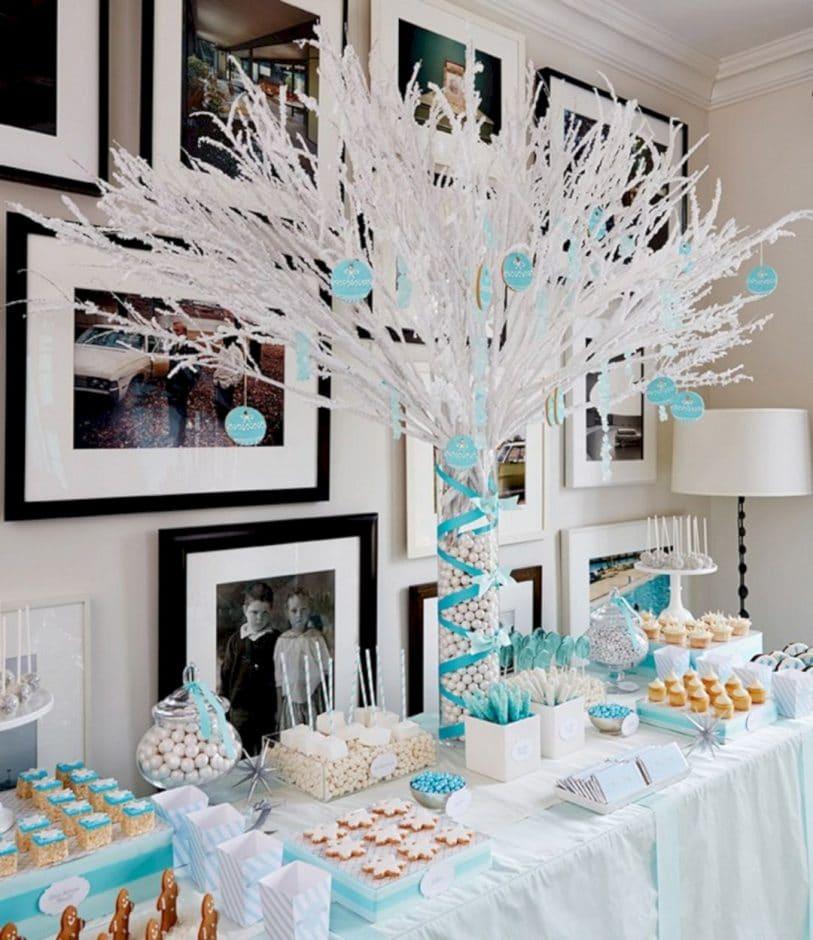 Winter Wonderland Baby Shower Table Decorations Novocom Top