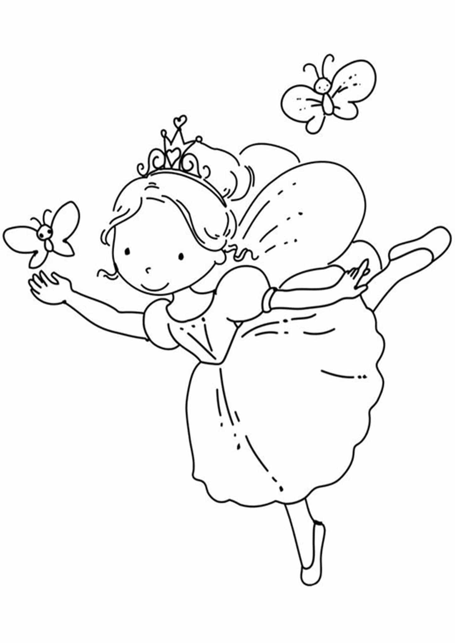 Free Amp Easy To Print Fairy Coloring Pages