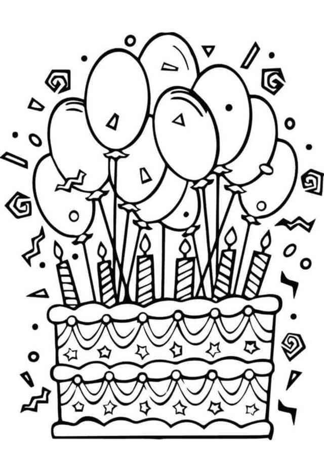 Free & Easy To Print Happy Birthday Coloring Pages - Tulamama