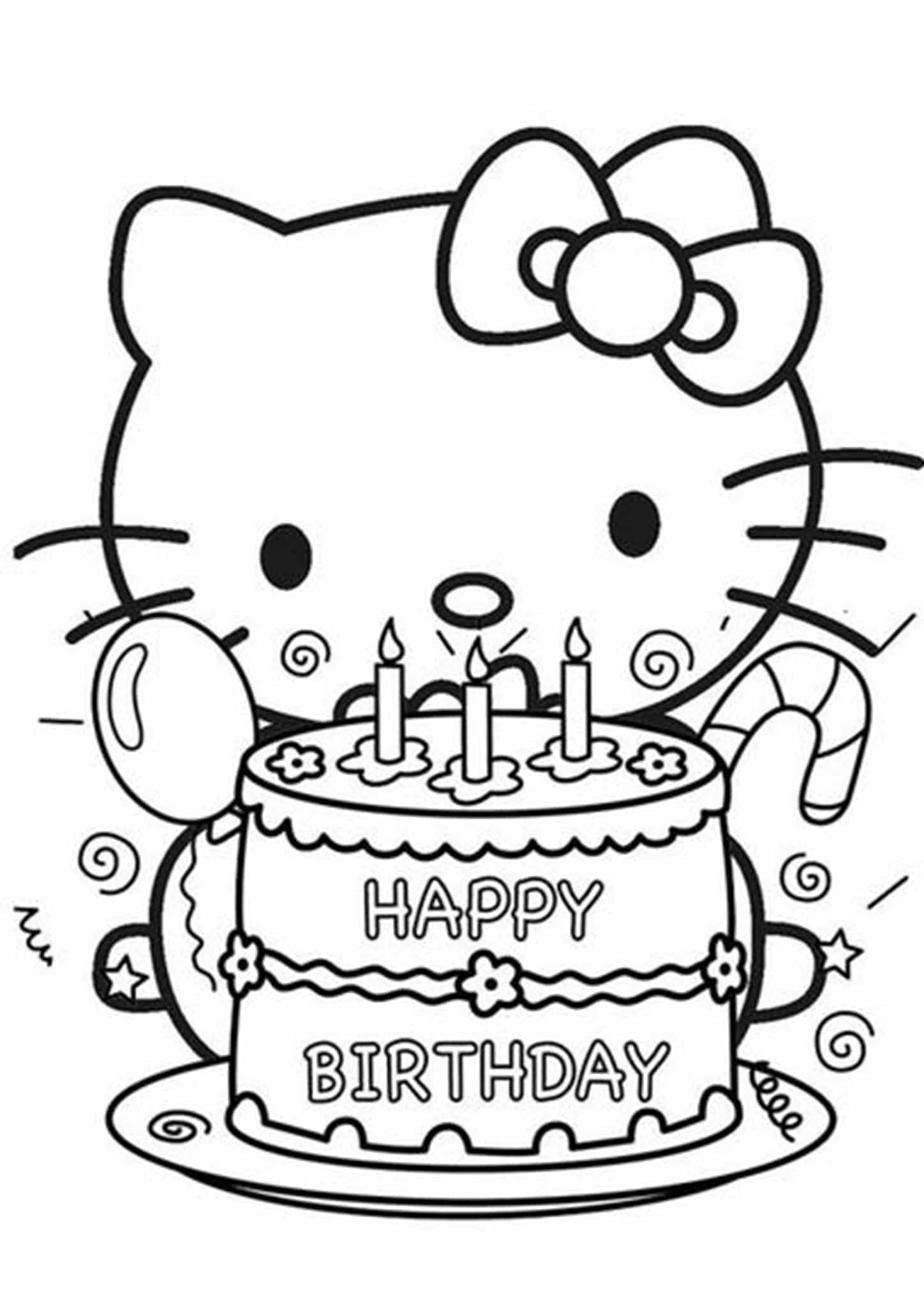 Free Amp Easy To Print Happy Birthday Coloring Pages