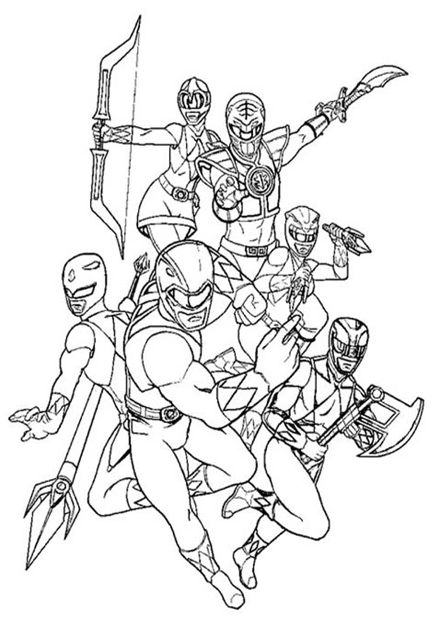Free Amp Easy To Print Power Rangers Coloring Pages
