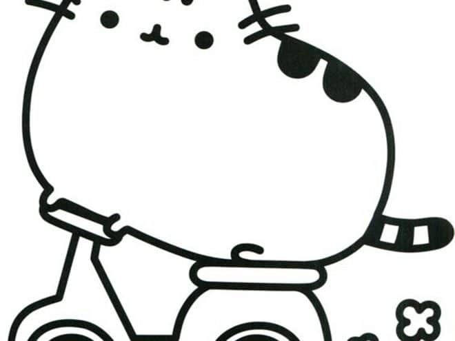 Free Easy To Print Pusheen Coloring Pages Tulamama