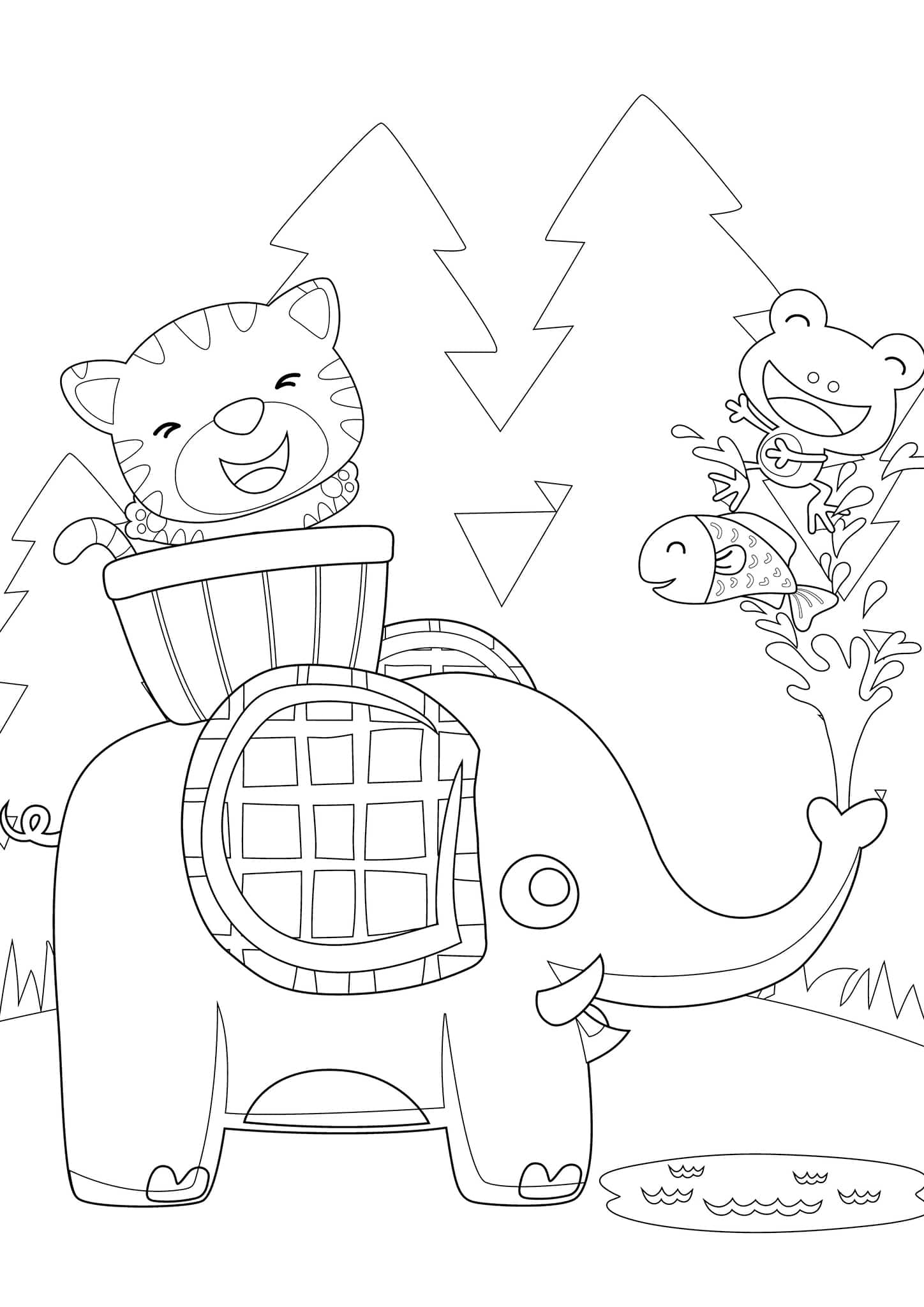 Free Amp Easy To Print Elephant Coloring Pages