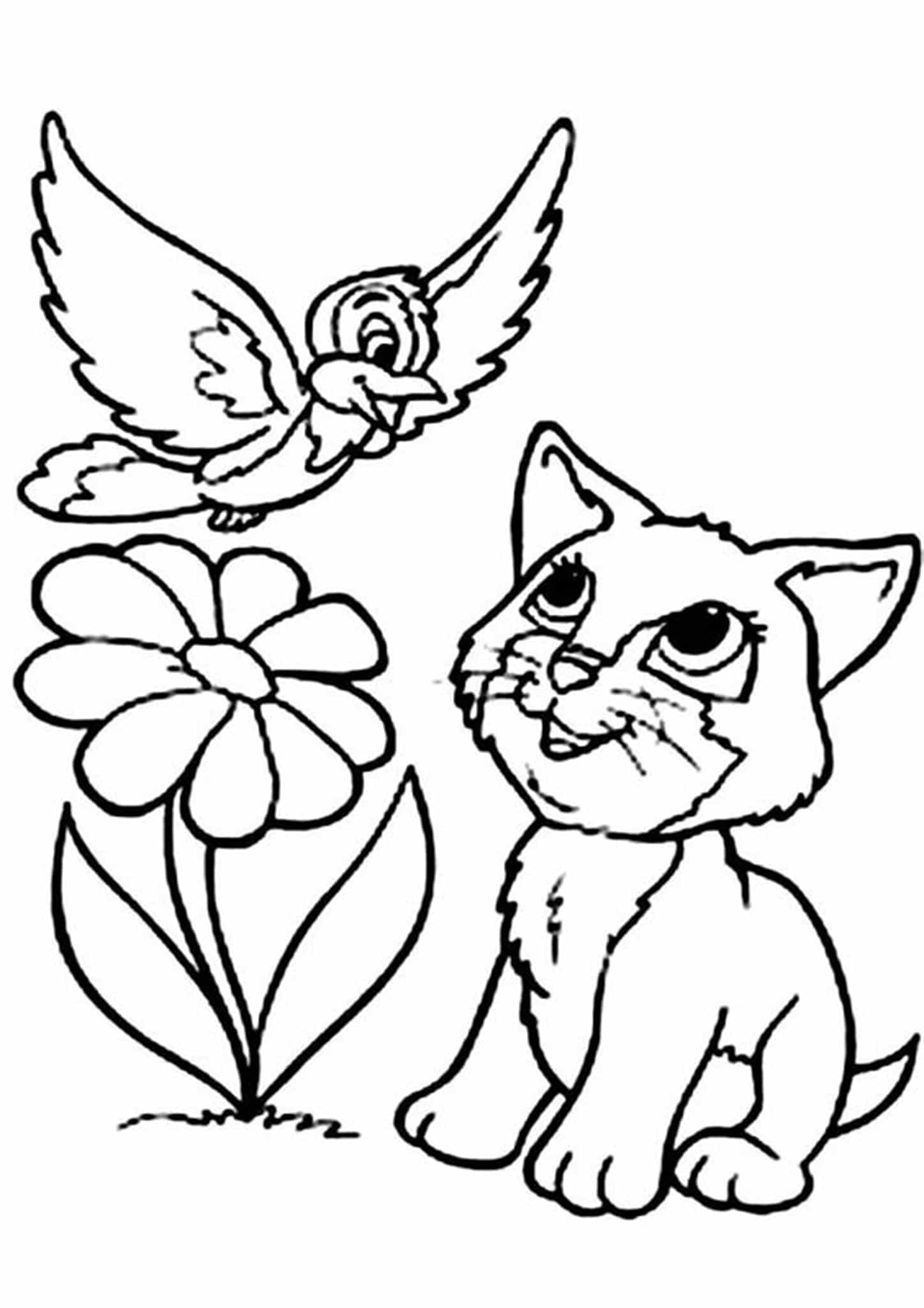 Baby Kitten Coloring Pages : kitten, coloring, pages, Print, Kitten, Coloring, Pages, Tulamama