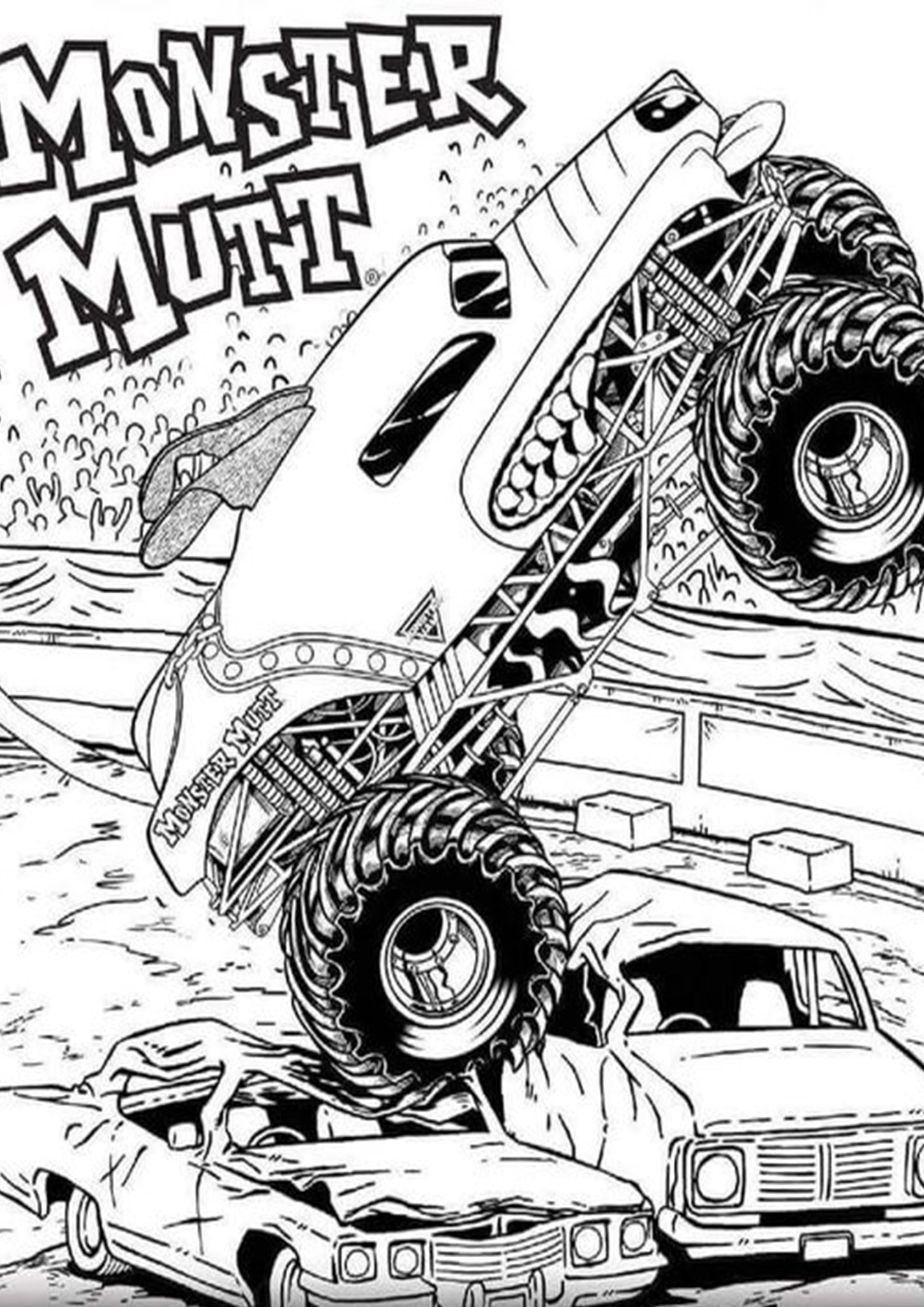 Free Amp Easy To Print Monster Truck Coloring Pages